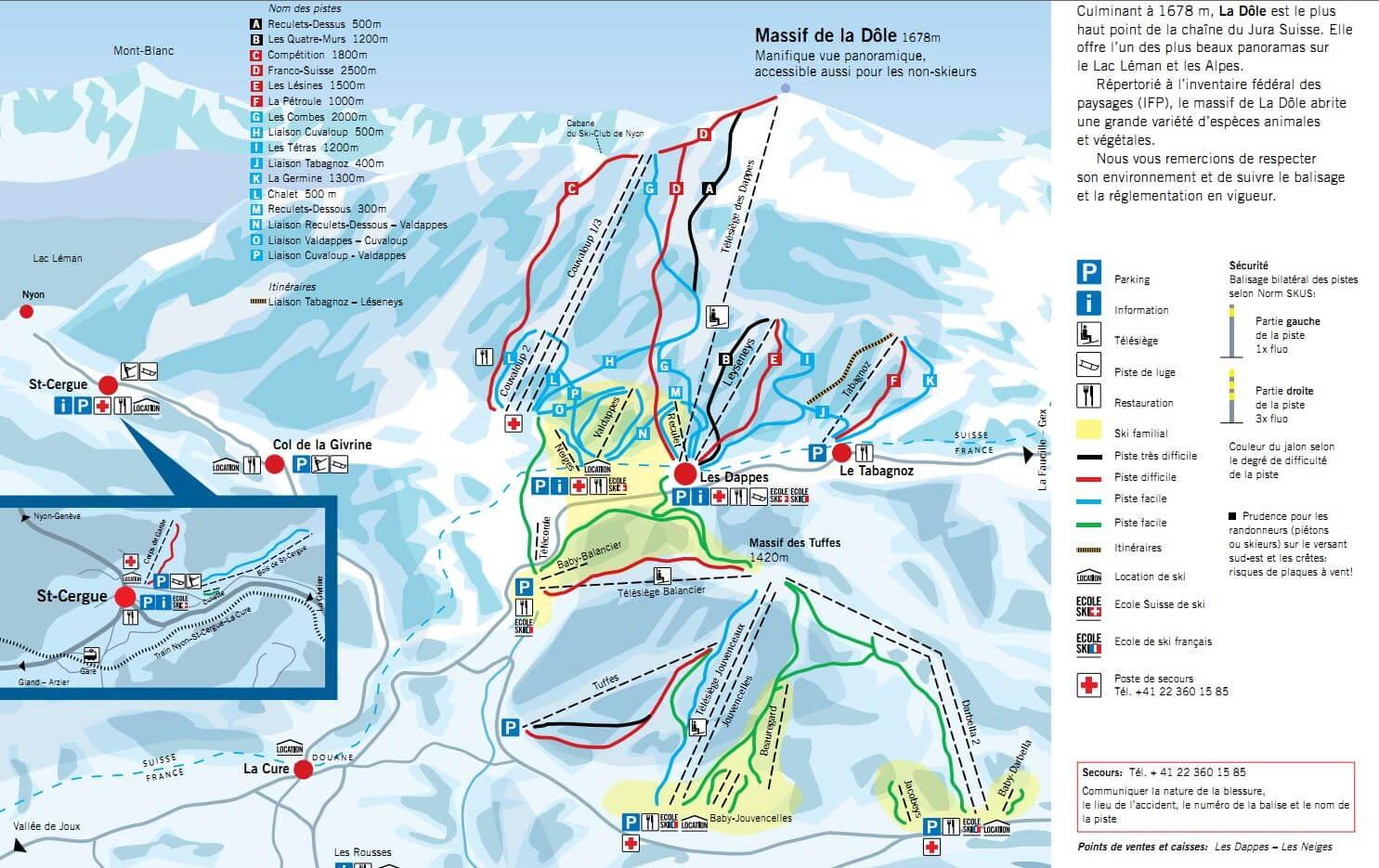 zinal plan des pistes de ski
