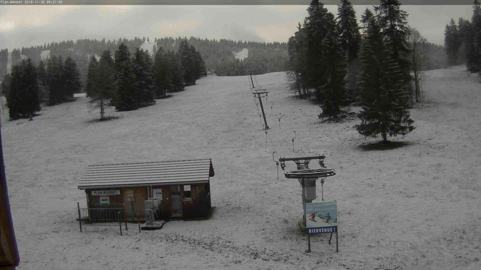 Les Bugnenets après les chutes de neige (30.11.2019)